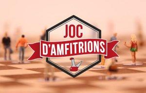 """Joc d'amfitrions"". Concurs. Reality de les teles locals. Logotip."