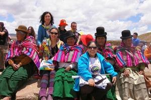 Tiwanaku después de la ceremónia a la Pacha Mama